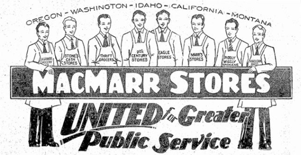 Piggly Wiggly of Puget Sound was the odd man out initially. From Mar 15, 1929 ad. (Seattle Times)