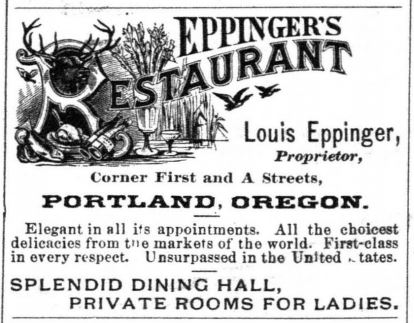 Eppinger's ad, 1883