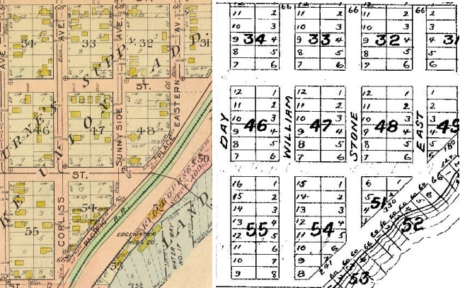 Comparing the Lake Union plat to 1912