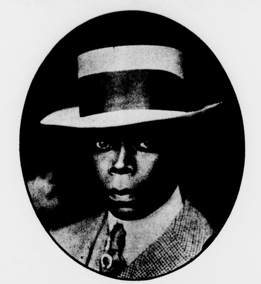 Photograph of Frank Smith in hat and tie